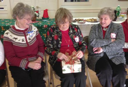 Mary Ellen opens a gift