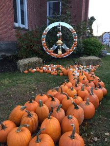 Second Congregational Peace Symbol for Pumkinfest 2018